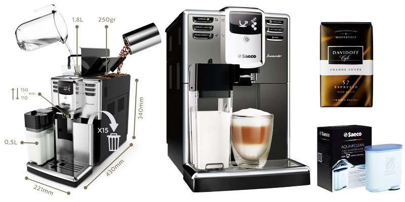 Espressor automat Saeco Incanto HD8917/09