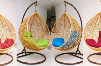 Balansoar din Ratan Natural – Pentru Gradina sau Sufragerie